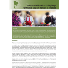 Dream out of Reach: A Living Wage for Women Migrant Workers in Thailand 2018